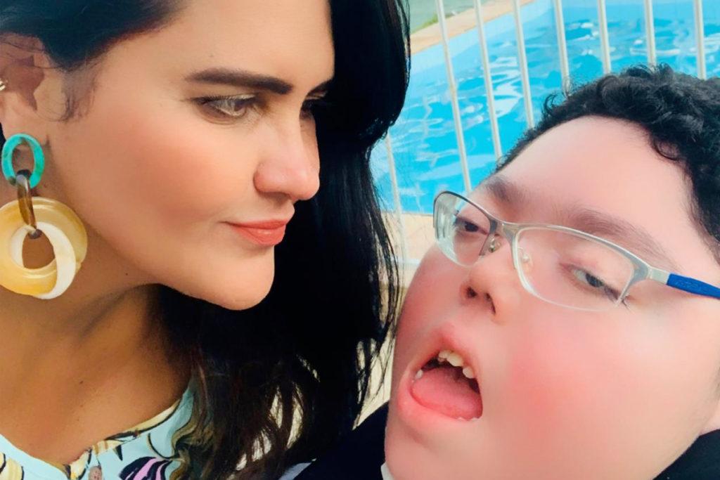 Fatima Braga e seu filho Lucas