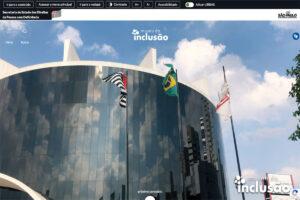 imagem do novo site do Museu da Inclusão com vários recursos de acessibilidade